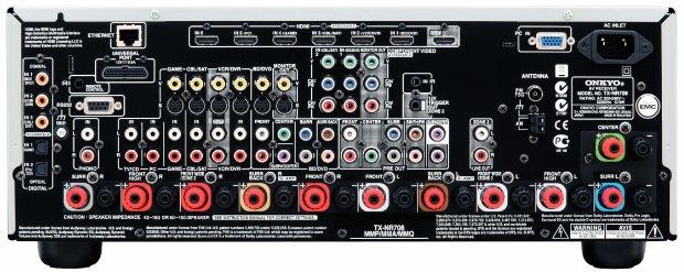 Интерфейсы ONKYO TX-NR 708 Silver