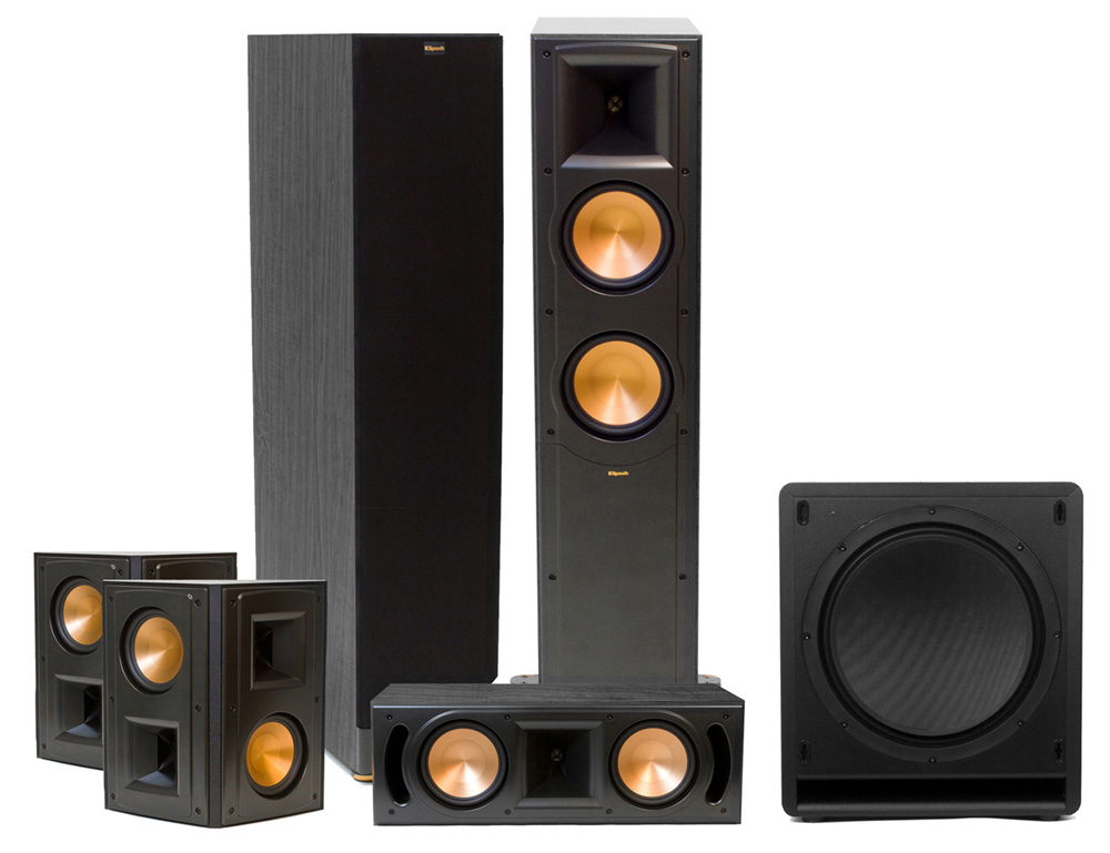 klipsch rf 62 ii home theater system 5 1. Black Bedroom Furniture Sets. Home Design Ideas